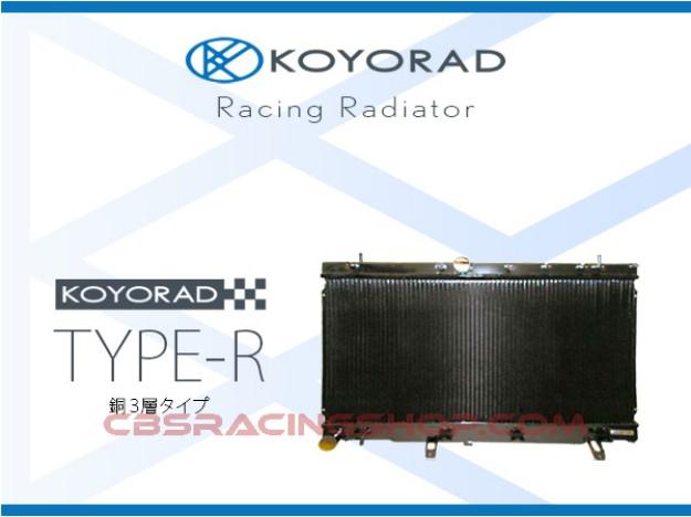Bild von JZA80 Supra 2JZGTE NON VVTi Racing Radiator Type-R, Copper 3-Layer - KOYORAD